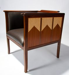Art Deco club chair by Kevin Mack Fine Furniture