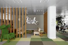 Office & Workspace, Creative Design and Decoration of JWT Amsterdam Office: Jwt Office In The Corner Of The Road Creative Office Space, Office Space Design, Modern Office Design, Workplace Design, Contemporary Office, Office Interior Design, Office Interiors, Office Designs, Design Offices