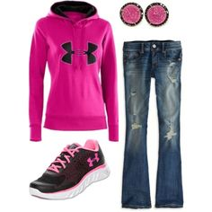 """under armour"" casual outfit-comfy!"