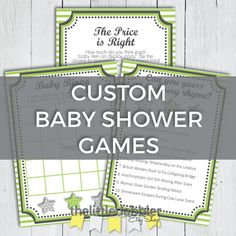 Custom Printable Baby Shower Games  Wishes for by thelittledabbler