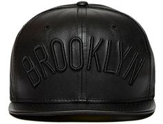 Brooklyn Nets Faux Leather 59FIFTY Fitted Cap by NEW ERA x NBA
