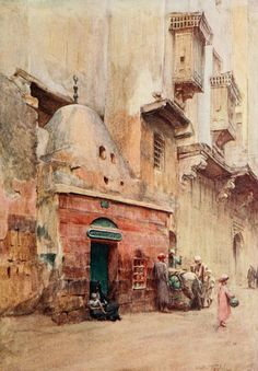 Tyndale, Walter (1855-1943) - Below the Cataracts 1907, A Sheykh's tomb at Cairo. #egypt