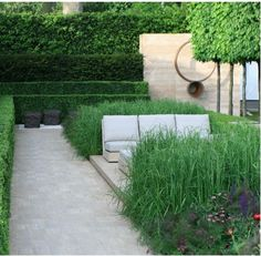 Luciano Giubbilei's Laurent-Perrier Garden, yes! Dutch Gardens, Small Gardens, Outdoor Gardens, Contemporary Garden Design, Landscape Design, Laurent Perrier, Minimalist Garden, Garden Architecture, Garden Cottage