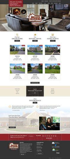"""Illinois - REALTOR Helen Oliveri's responsive real estate website is built on our semi custom #realestatewordpresstheme """"Austin."""" Learn about our real estate Wordpress themes at www.IDXCentral.com #realtors #realestate #realestatewebsite #realestatemarketing"""