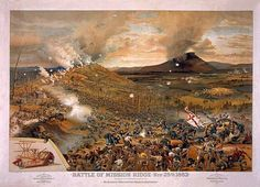 Battle of Mission [Missionary] Ridge, Nov 25th 1863; Cosack & Co., 1886, from the Library of Congress.