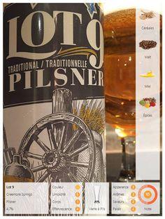 La Lot 9 de Creemore Springs. Cette bière se présente vêtue d'une robe jaune-orangé aux reflets dorés surmontée d'un col de dentelle peu persistant. Elle nous invite timidement aux rapprochements avec des arômes de céréales et quelques effluves de malt. Elle nous offre un corps mince aux saveurs de céréales accompagnées d'une légère touche de miel et d'une pointe d'épices.