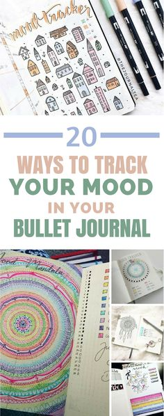 Bullet Journal Mood Tracker - If you're making self care one of your goals for 2018 you're going to need a way to keep track of your emotions. So here are 20 of the best bullet journal mood tracker layouts to inspire you to look out for you! #bulletjournal #bujo #selfcare