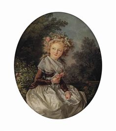 Louis Rolland Trinquesse - Portrait of a girl, 1785... on MutualArt.com