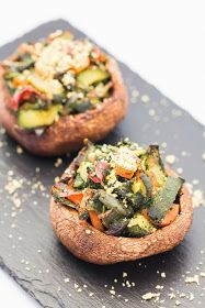 Veggie Stuffed Portobello