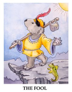 Wombat Tarot--The Fool by ursulav.deviantart.com on @deviantART