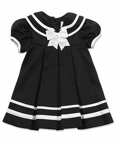 Rare Editions Baby Dress, Baby Girls Nautical Sailor Dress with Hat - Kids Baby Girl (0-24 months) - Macy's