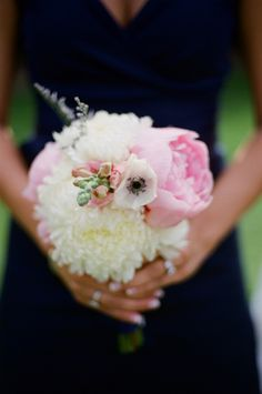 bridesmaid bouquet to the peony blend. Different colors for @Emily Schoenfeld Botkin