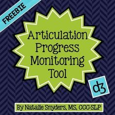 FREE!  Make articulation progress monitoring for the /dg/ sound a breeze with this stand along sample from Natalie Snyders' bestselling tools on TpT!