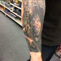 Daryl Dixon tattoo (I love the Daryl, but I don't know if I'd go this far!)