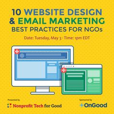 Free Webinar May 3! 10 Website Design and Email Marketing Best Practices for NGOs