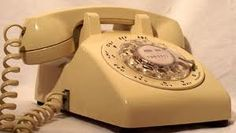 the rotary dial phones - we had one that hung on the wall in the kitchen - I had the cord so stretched it would reach my bedroom which was 2 rooms away