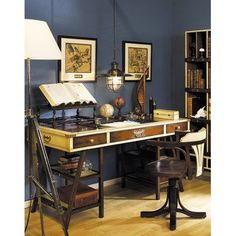 Authentic Models MF011 Navigator's Desk in Ivory