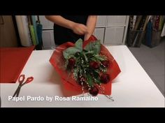 Roses Tied & Wrapped with tissue paper #wrapflowers - YouTube