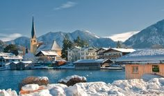 Winter in Rottach Egern, Tegernsee, Bavaria, Germany
