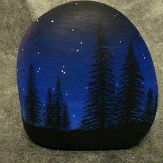#nightfall #paintedstones Hand painted #riverrock #rockinart58