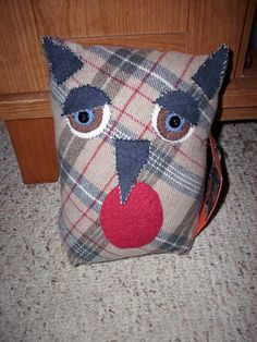 Plushie  Hermione the Horned Owl by louisiana1966 on Etsy, $18.00