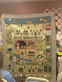 Leslie and I each made our own adaption of these Jan Patek Girl Gang quilts. Wool Applique Patterns, Applique Quilts, Embroidery Applique, Primitive Quilts, Primitive Patterns, House Quilts, Fabric Houses, Beginner Quilt Patterns, Homemade Quilts
