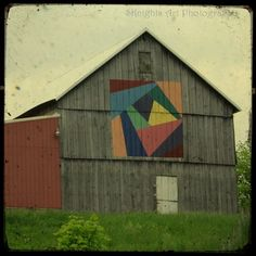 Throughout Appalachia, including southern Pennsylvania, southern Ohio, Kentucky, Tennessee, West Virginia and southern Indiana, barns with large, colorful quilt designs can be seen on the side of the barn. The trend is on the move with quilt barns now in Iowa and even on the west coast.    This collage depicts many of the barns in Monroe County, Ohio. Monroe County can be found along the Ohio River and is in the southeastern corner of Ohio.