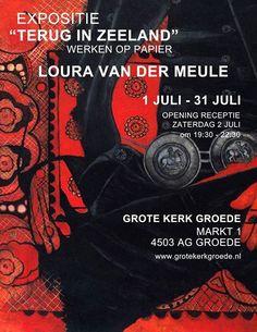 Vernissage Loura van der Meule Terug in Zeeland Werken op papier   Groede