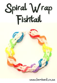 Spiral Wrap Fishtail Loom Band Bracelet Tutorial, I bet my sister hasn't heard of this one!