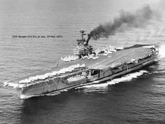 US Aircraft Carrier VIETNAM | Ranger at sea in 1971