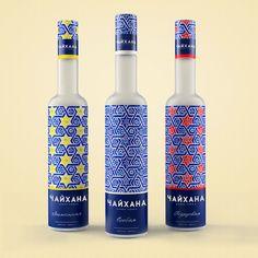 the Uzbek vodka Chayhana by Brandbox Branding Kazakhstan. the inspiration for this design came from the Uzbek fine arts heritage.