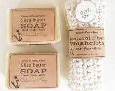 Bath Gift Set Organic Soap & Hand-Knit by TheHerbalWorkshop