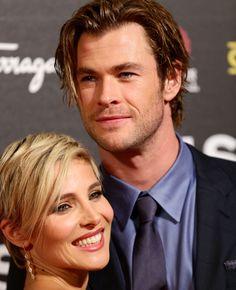 Elsa Pataky y Chris Hemsworth, desde Roma con amor