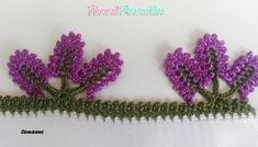 LAVANTA TIĞ OYASI MODELİ YAPIMI#moda #hobi #hobby #elişi #kadın #orgu #knitting Crochet Lace Edging, Crochet Borders, Thread Crochet, Crochet Stitches, Saree Kuchu Designs, Baby Knitting Patterns, Crochet Projects, Needlework, Crochet Earrings