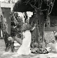 Kahlo in her garden, 1951. - The Cut