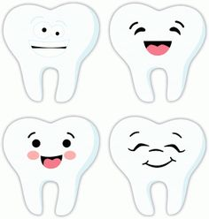Silhouette Design Store - View Design #73870: 4 happy teeth