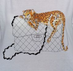 Féline Accessoire #t-shirt - Hand-drawn illustration by Helena Strömberg for Les Londoniens