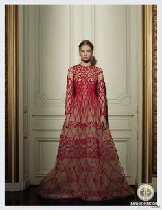 """Sasha Luss featured in the Vogue Italy editorial """"Valentino Haute Couture SS 2013"""" from March 2013 , showing Valentino Couture"""