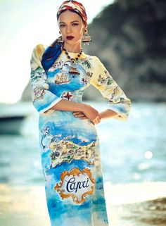 Dolce&Gabbana Alta Moda Fall Winter 2014-2015 collection on Vogue Japan October 2014 Issue