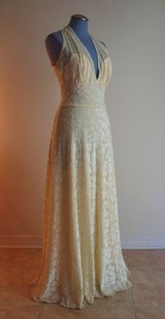 1970s evening gown. Couture Allure Vintage Fashion: New at Couture Allure - Vintage Designer Dresses