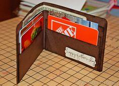 Handmade wallet craft -inside