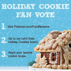 Repin and tell your friends to vote for their favorite @FoodNetwork holiday cookie, too!