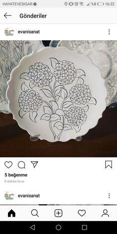 Embroidered Cushions, Plate Art, Cushion Fabric, Ceramic Art, Reuse, Floral Design, Pottery, Ceramics, Sculpture