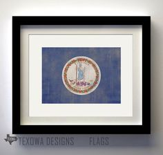 Virginia Flag Print by texowadesigns on Etsy, $17.00