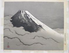 """Mt Fuji in Clouds"" by Yokoyama Taikan - Japanese Art Open Database"