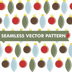 Christmas Ornaments Seamless Vector. Christmas Patterns. $5.00