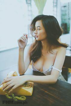 FHM's March Idol Lhea Bernardino Just Became Our Favorite Waifu Filipina Beauty, Cute Lingerie, Pinoy, Bikinis, Swimwear, Camisole Top, Guys, Tank Tops, Sexy