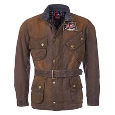 Barbour International / Triumph Legend Waxed Jacket - Hickory