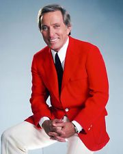 Andy Williams 16x20 Poster in red jacket singer legend