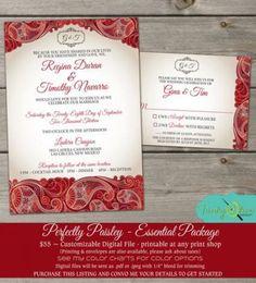 56+ Trendy wedding invites red purple Paisley Wedding, Red Wedding, Summer Wedding, Platinum Wedding Rings, Wedding Rings Rose Gold, Blush Wedding Centerpieces, Wedding Invitations, Invites, Pink Ring